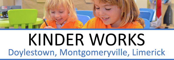 Kinder Works preschool offers a loving and caring learning environment for Preschoolers and Kindergartners. With a staff of certified teachers, Kinder Works is fully accredited by the Department of Public Welfare and Department of Education. Full and Part-time schedules are available. For summer fun, check out our Camp Kinder Works!