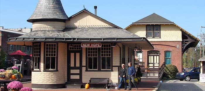 Visit the New Hope Train Station in Bucks County, PA